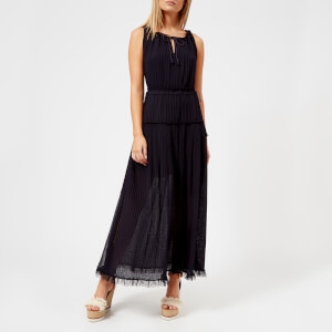 See By Chloé Women's Pleated Maxi Dress - Ink Navy