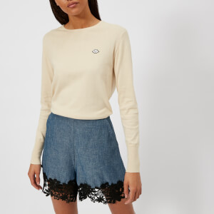 See By Chloe Women's Logo Knit Jumper - Angora Beige