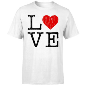 Love Heart Textured T-Shirt - White