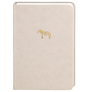 Sky + Miller Zebra Notebook - Grey