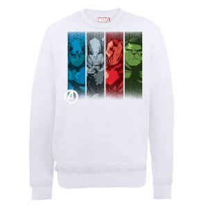 Sweat Homme Marvel Avengers Assemble - Team Poses - Blanc