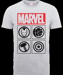 T-Shirt Homme Marvel Avengers Assemble - Icons - Gris