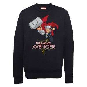 Marvel Avengers Assemble The Mighty Thor Sweatshirt - Black