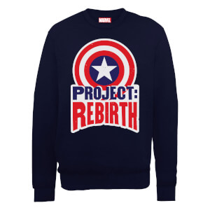 Marvel Avengers Assemble Captain America Project Rebirth Sweatshirt - Black