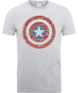Marvel Avengers Assemble Captain America Shield Badge T-shirt - Grijs