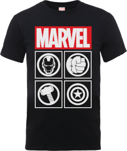 Marvel Avengers Assemble Icons T-Shirt - Black