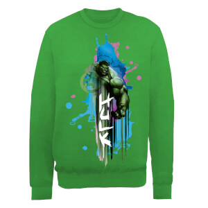 Marvel Avengers Assemble Hulk Art Burst Sweatshirt - Green