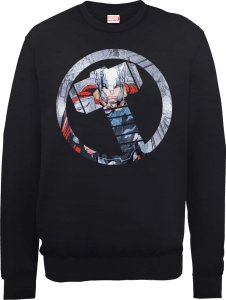 Marvel Avengers Assemble Thor Montage Sweatshirt - Black