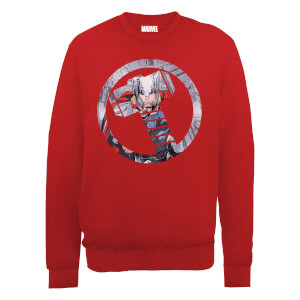 Marvel Avengers Assemble Thor Montage Sweatshirt - Red