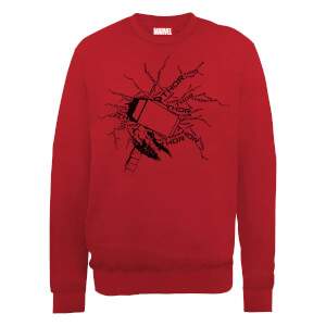 Sweat Homme Marvel Avengers Assemble - Thor Éclair - Rouge