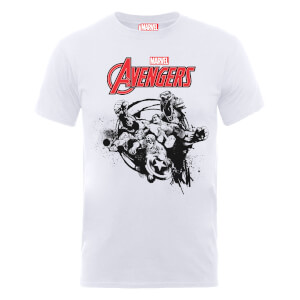 Marvel Avengers Team Burst T-Shirt - White