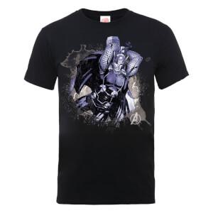 T-Shirt Homme Marvel Avengers Assemble - Thor Éclaboussure - Noir
