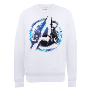 Marvel Avengers Assemble Flared Logo Sweatshirt - White