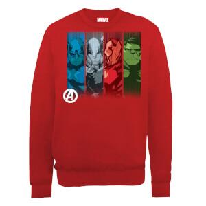 Sudadera Marvel Los Vengadores Equipo Primer Plano - Hombre - Rojo
