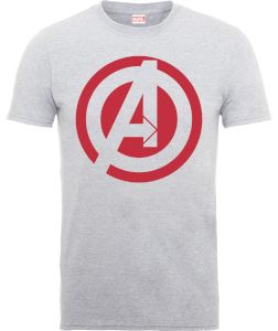 Marvel Avengers Assemble Captain America Logo T-Shirt - Grey
