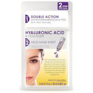 Маска с гиалуроновой кислотой и коллагеном Skin Republic 2 Step Hyaluronic Acid + Collagen