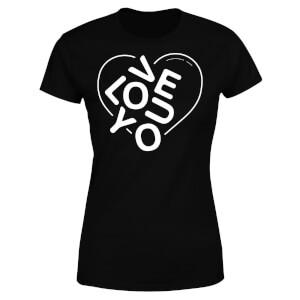 Love You Jumble Women's T-Shirt - Black
