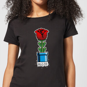 Say It With Flowers Women's T-Shirt - Black