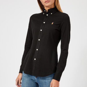 Polo Ralph Lauren Women's Heidi Skinny Long Sleeve Shirt - Polo Black