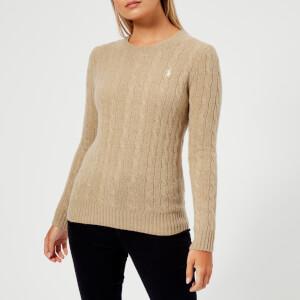 Polo Ralph Lauren Women's Julianna Classic Long Sleeve Sweater - Camel