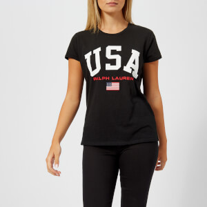 Polo Ralph Lauren Women s USA T-Shirt - Polo Black 56edbcd5f5