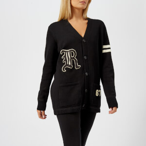 Polo Ralph Lauren Women's Varsity Cardigan - Black/Cream