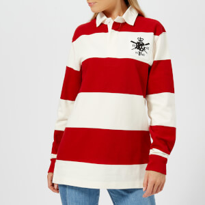 Polo Ralph Lauren Women's Patch Rugby Shirt - Red/DeckWash White
