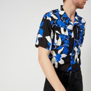 Edwin Men's Garage Short Sleeve Shirt - Blue/Grey/Black
