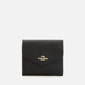 Coach Women's Crossgrain Leather Small Wallet - Black