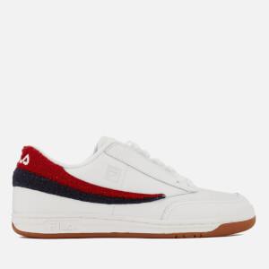 FILA Men's Original Tennis Varsity Trainers - White/Navy/Red