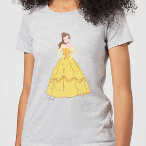 T-Shirt Femme Princesse Belle Classique - La Belle et la Bête (Disney) - Gris