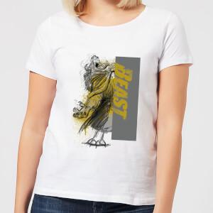 Disney Die Schöne und das Biest Rage Damen T-Shirt - Weiß