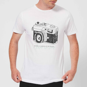 With A Camera In My Hand, I Know No Fear T-Shirt - White