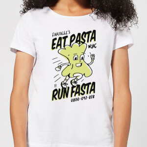 EAT PASTA RUN FASTA Women's T-Shirt - White