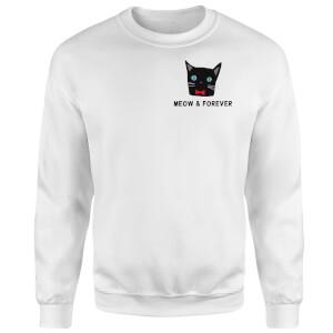 Meow & Forever Sweatshirt - White