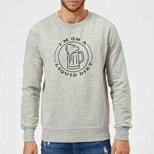 Liquid Diet Beer Sweatshirt - Grey