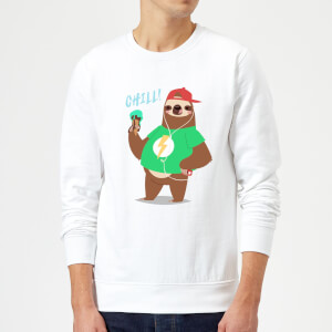 Sloth Chill Sweatshirt - White