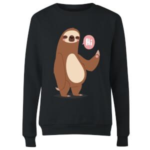 Sloth Hi Women's Sweatshirt - Black