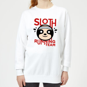 Sloth Running Team Women's Sweatshirt - White