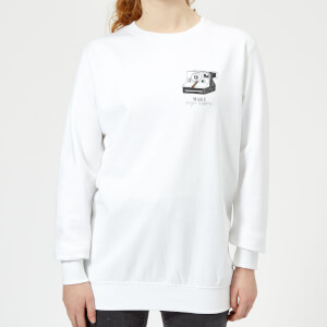 Make Magic Happen Women's Sweatshirt - White