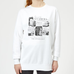 Life Is Like A Camera Women's Sweatshirt - White