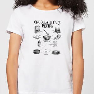 Chocolate Cake Recipe Women's T-Shirt - White