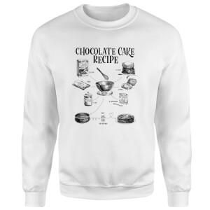 Chocolate Cake Recipe Sweatshirt - White