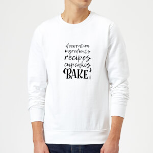 Baking Words Sweatshirt - White