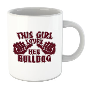 This Girl Loves Her Bulldog Mug