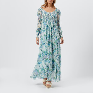 Zimmermann Women's Breeze Shirred Dress - Azure Wallpaper