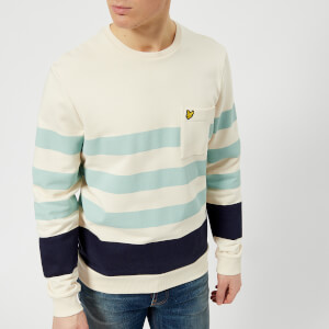 Lyle & Scott Men's Stripe Sweatshirt - Seashell White