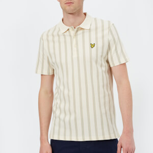 Lyle & Scott Men's Deckchair Stripe Polo Shirt - Seashell White