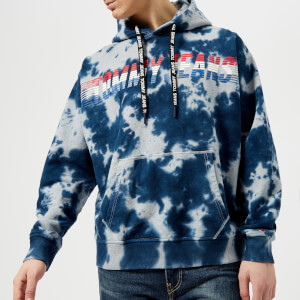 Tommy Jeans Men's Vintage Tie Dye Popover Hoody - Light Grey Heather Tie Dye