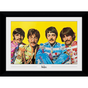 The Beatles Lonely Hearts Club Collector's 50 x 70cm Framed Photograph
